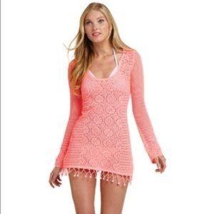 Lilly Pulitzer Athena Crochet Sweater Dress